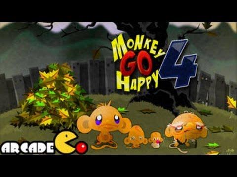 Monkey Go Happy 4 Walkthrough All Levels HD