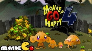 Monkey Go Happy 4 Walkthrough All Levels HD