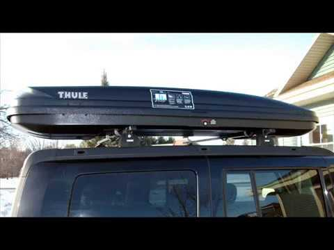 Thule Pulse Alpine 613 Black Cargo Box For Car Roof Racks Youtube
