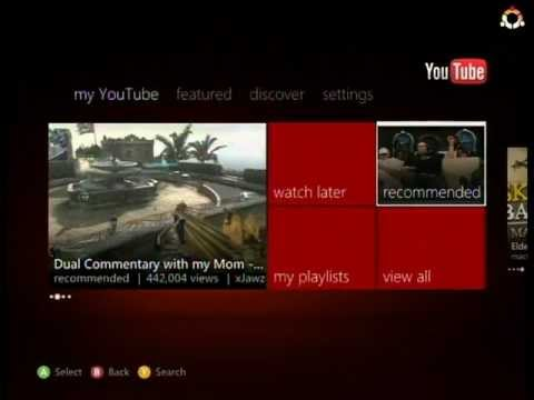 xbox 360 youtube app overview   youtube