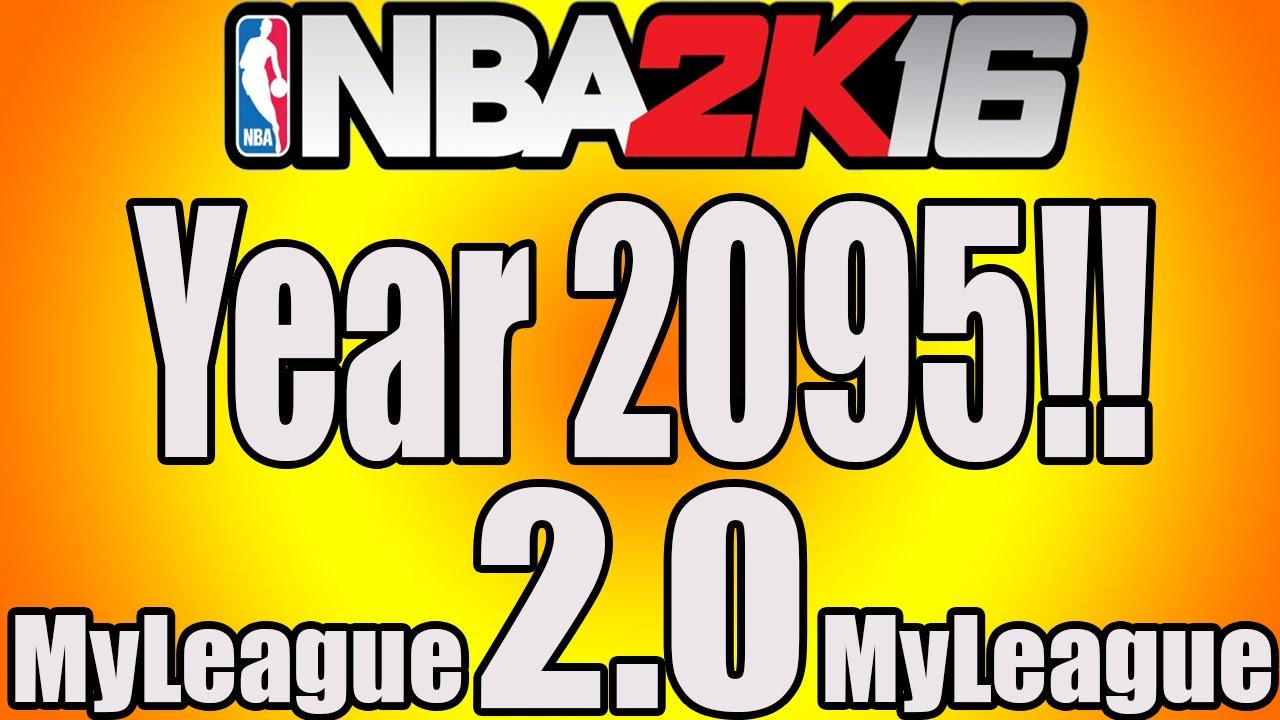 NBA 2K16 - MyLeague - The Year 2095 2.0!!! (Jazz 10x Winners, 500+ 3s Made,  5000 Career 3s Made!) - YouTube