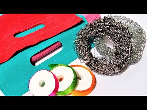 Unique Craft Idea With Steel Scrubber and Fabric Bag | Best Out Of Waste