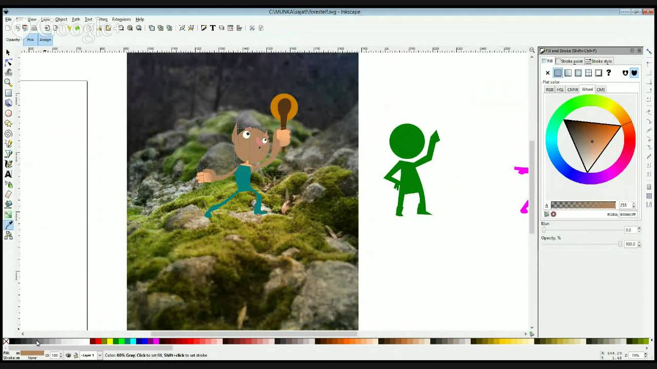 Inkscape Character Design Tutorial : Character design with inkscape live drawing youtube