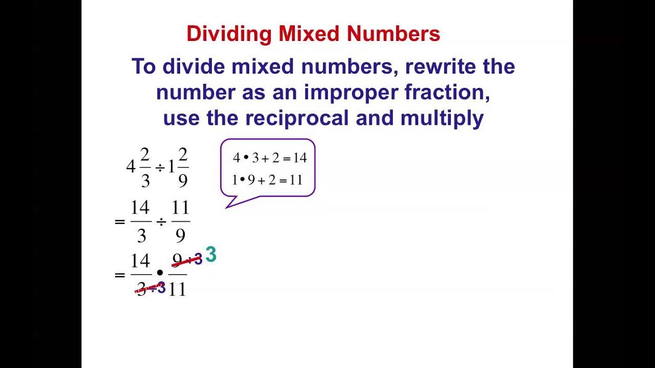 worksheet Dividing Mixed Numbers 7th grade chapter 2 4e dividing mixed numbers youtube numbers