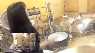 "TRIVIUM ""Down From The Sky"" drum cover by Fumie Abe"