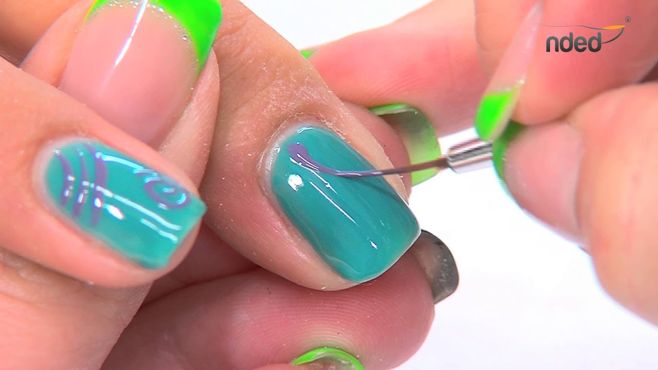 gellak zomerse nail art met gel polish design nagels