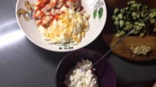 ФИТНЕС РЕЦЕПТЫ белковый салат (вариант 1)