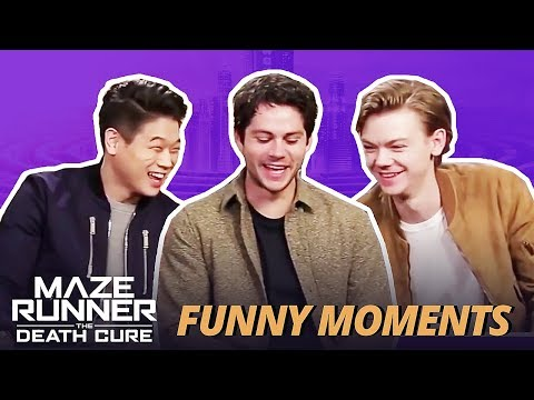 DYLAN O'BRIEN FLIRTING WITH KI HONG & THOMAS  Maze Runner Bloopers Funny Moments: The Death Cure