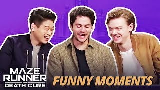 DYLAN O'BRIEN FLIRTING WITH KI HONG & THOMAS - Maze Runner Bloopers Funny Moments: The Death Cure