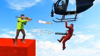 EXTREME MILE HIGH HELICOPTER BATTLES! (GTA 5 Funny Moments)