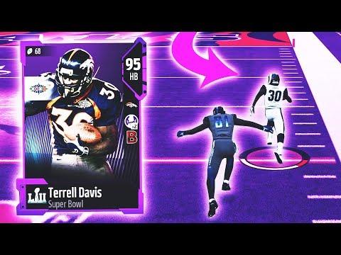 TERRELL DAVIS SUPER BOWL EDITION IS NASTY! SUPER BOWL LEGEND! Madden 18 Ultimate Team