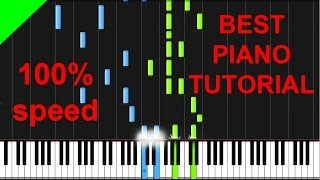Tiesto - Red Lights piano tutorial