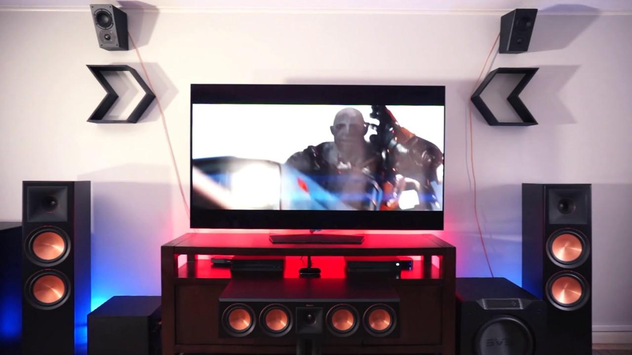 klipsch rp 8000f svs sb 4000 svs prime elevation home theater atmos demo youtube. Black Bedroom Furniture Sets. Home Design Ideas