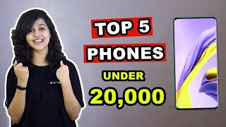 Top 5 BEST PHONES under 20,000 in INDIA 2020