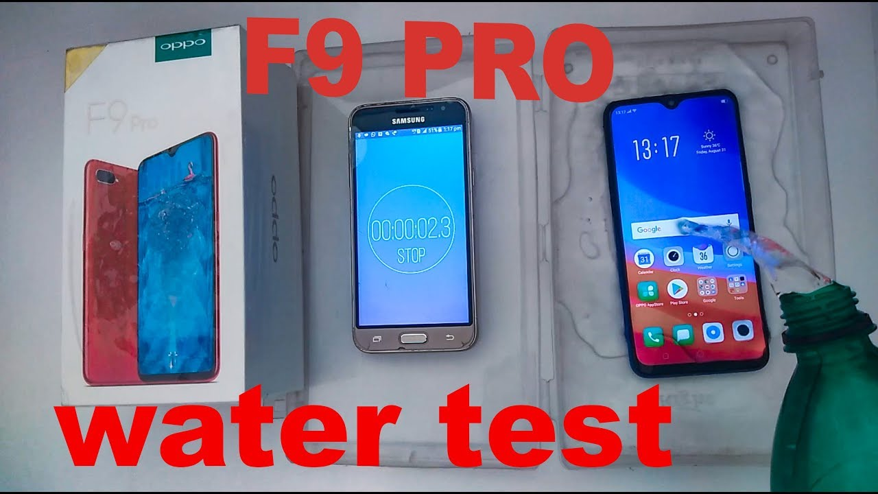 oppo f9 water
