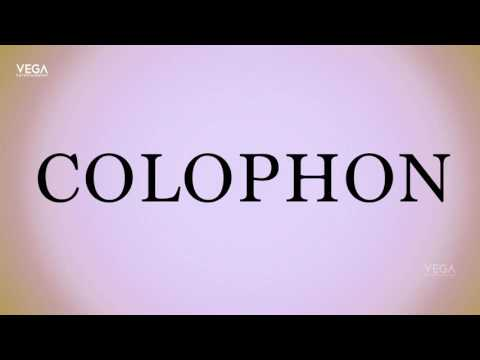 How To Pronounce Colophon
