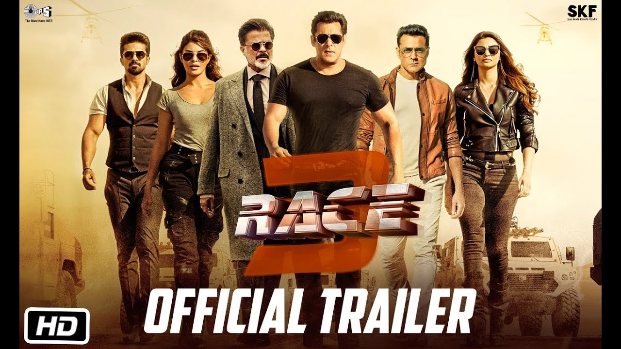 Race 3 | Official Trailer | Salman Khan | Remo D'Souza | Releasing on 15th June 2018 | #Race3ThisEID #1