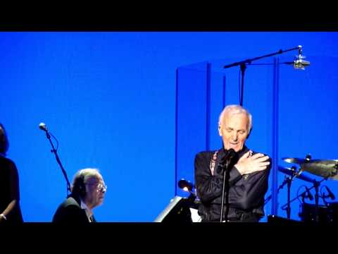 Charles Aznavour on stage in Los Angeles Sept. 13th, 2014 at The Greek Theater.