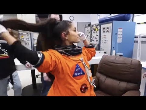 Ariana Grande at NASA with her team! [FULL VIDEO]