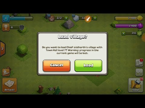How to load your village in clash of clan ..must watch in Hindi..