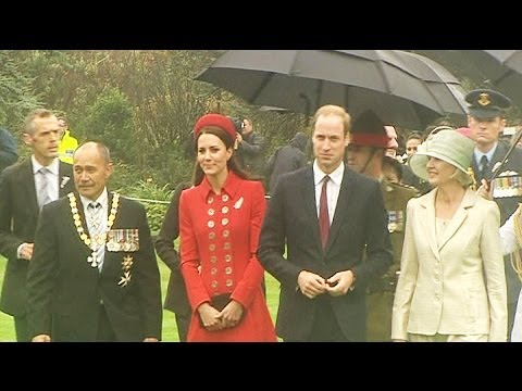 Prince William and Kate welcomed at Government House