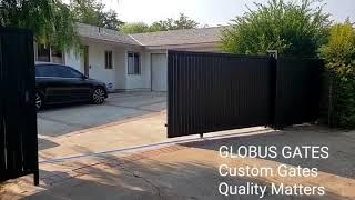 GLOBUS GATES, liftmaster sl3000 gate operator, Steel custom DRIVEWAY Gates, Los Angeles CA