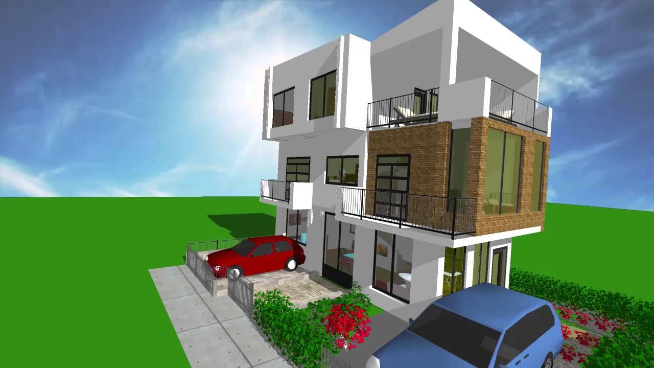Fachada casa esquinera cra 21 con 33 esquina yopal for Fachadas modernas para casas de tres pisos