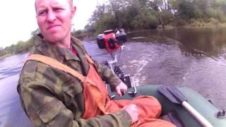видео как сделать из газонокосилки лодочный мотор