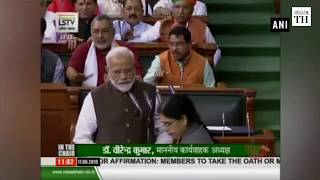 17th Lok Sabha Narendra Modi Amit Shah Pragya Thakur and other newly elected MPs take oath