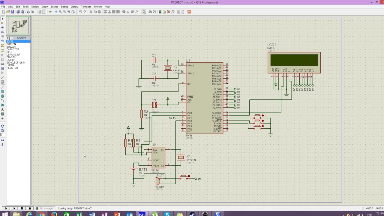 At89c51 Microcontroller Mini Project School Bell Timer Youtube Electronic Circuit Diagram Engineersgarage