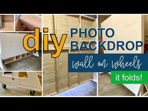 DIY Photo Backdrop Wall On Wheels (it folds too)