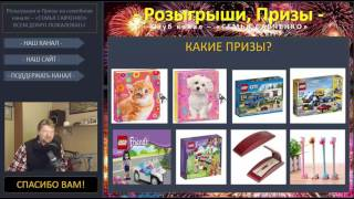 Розыгрыши и призы 1.2 /  лего конструктор, подарки, ручка, ежедневник, семья Савченко