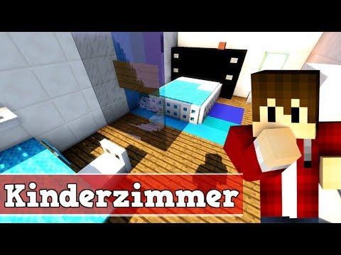 Wie baut man ein modernes Kinderzimmer in Minecraft | Minecraft Kinderzimmer bauen deutsch