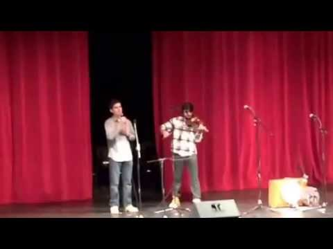 Latch (Acoustic) by Sam Smith; feat. Nick Page vocals, accompanied by Ameet K.on violin