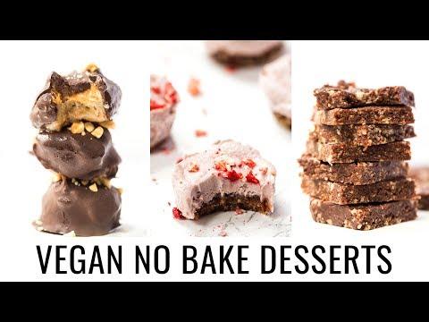 EASY VEGAN NO BAKE DESSERTS | 3 Healthy Recipes