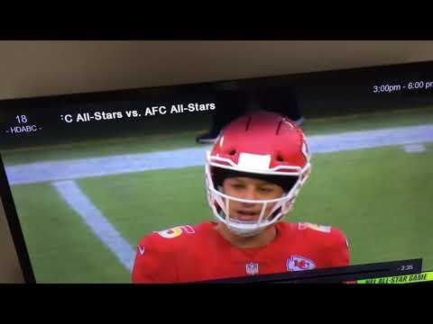 Patrick Mahomes Lets A Swear Loose On Incomplete Throw | Pro Bowl 2018/19