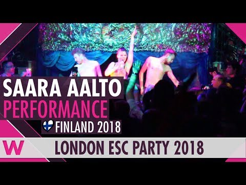 "Saara Aalto ""Monsters"" (Finland 2018) LIVE @ London Eurovision Party 2018"