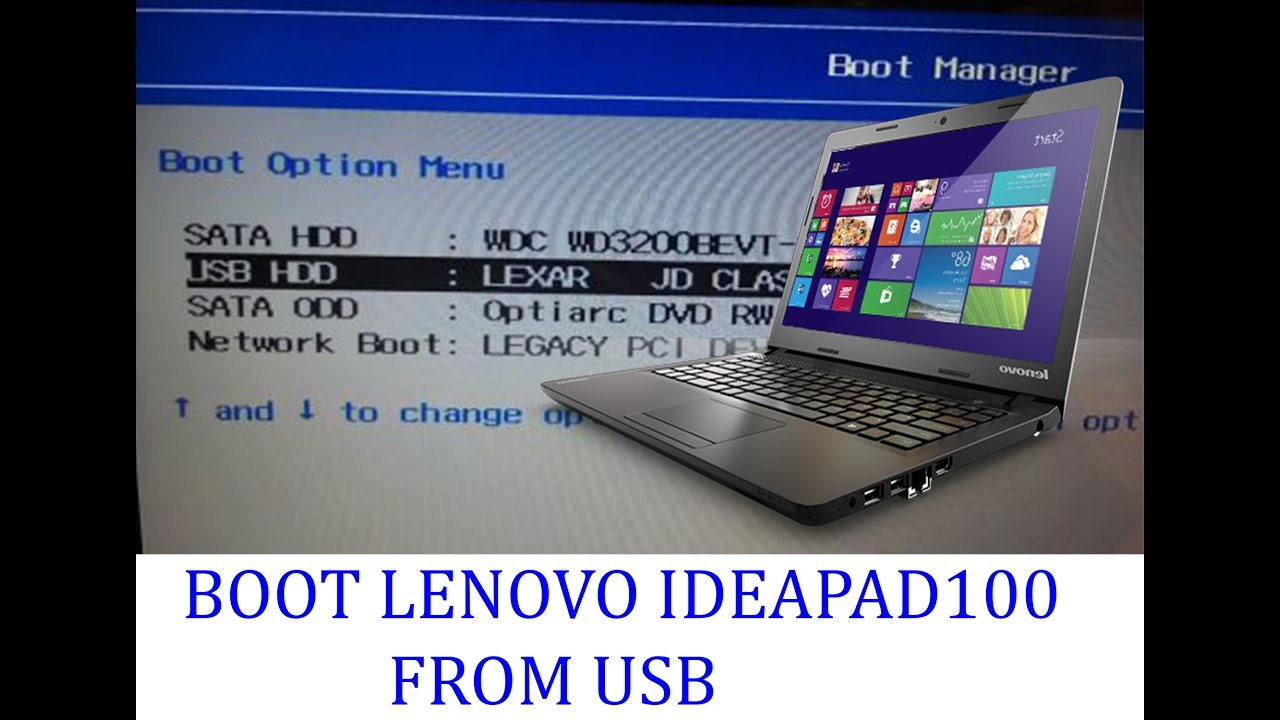 boot to usb windows 10 lenovo