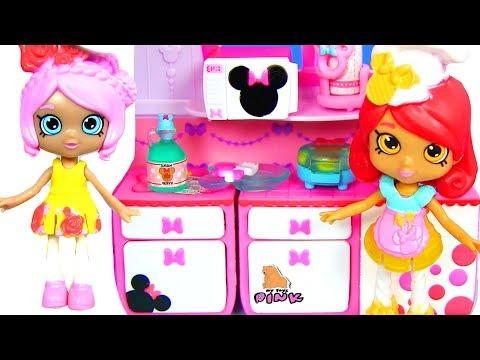 Shopkins + Disney СОСЕДИ! Шопкинс + Дисней! Игрушки для Девочек! Видео для Детей | Май Тойс Пинк