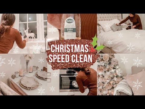 MESSY HOUSE TRANSFORMATION SPEED CLEAN WITH ME! *Christmas Edition* Hazel Maria Wood