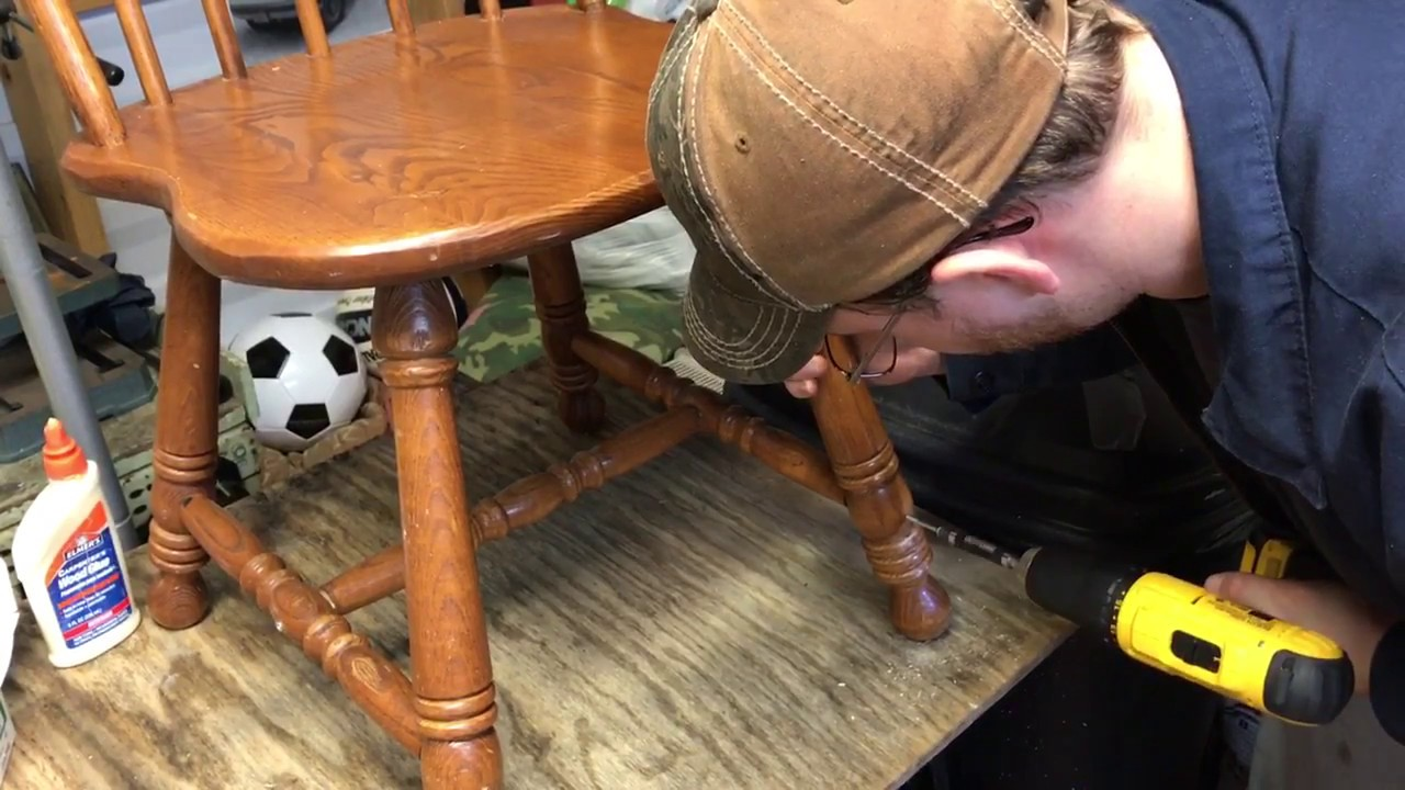Fixing A Wooden Kitchen Chair With Loose Legs And Spindles
