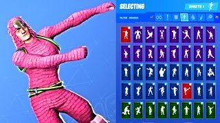 *NEW* Fortnite King Flamingo Skin Outfit Showcase with All Dances & Emotes