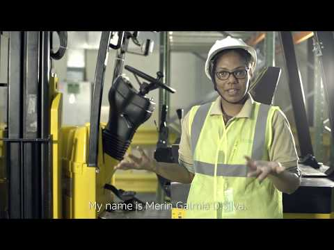 Amazon India's First Female Forklift Operator