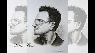 Bono Vox (U2) - realistic drawing