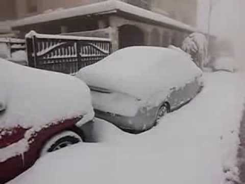 Snowfall on Amman, Jordan continues for the third consecutive day