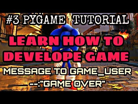 How to appear text on game display | #3 pygame tutorials for