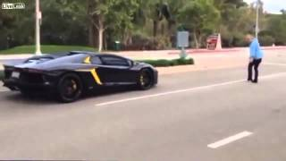 Man NAils $400,000 Lamborghini With Rock !