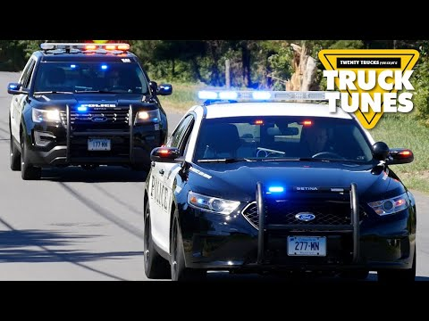 Police Car for Children | Truck Tunes for Kids | Twenty Trucks Channel | Police Vehicles