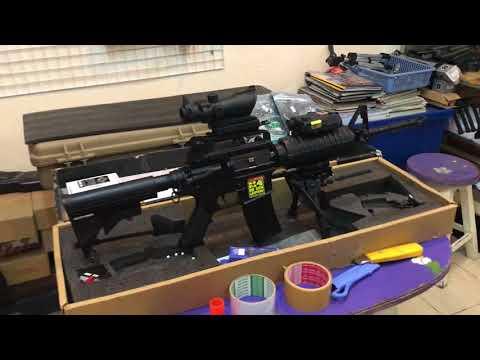 แต่งปืนบีบีกันแรง520+++ รุ่น M4A1 JG โดยช่างยนต์บีบีกันร้านเอ็มโฟร์บีบีกันลำปาง โทร0876613313