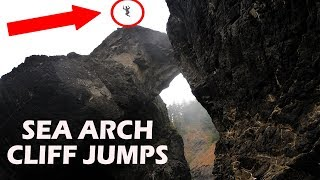 SEA ARCH CLIFF JUMPS! Exploring Oregon